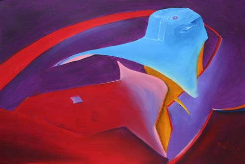 abstract figure paintings from alan brain