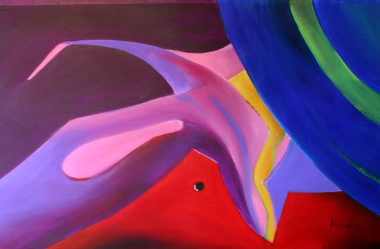abstract figure art flying collars
