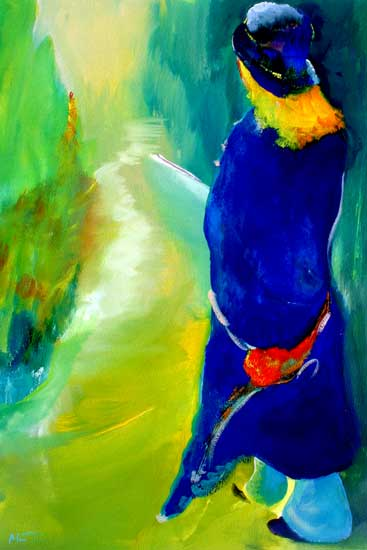abstracted figure painting