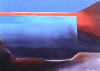 geometric art by alan brain - hello blue