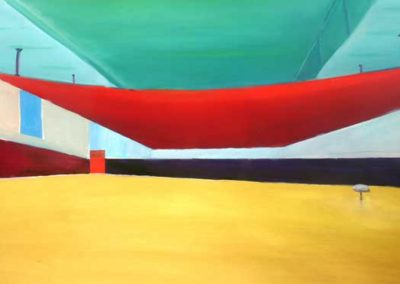 indoor space a geometric painting by alan brain