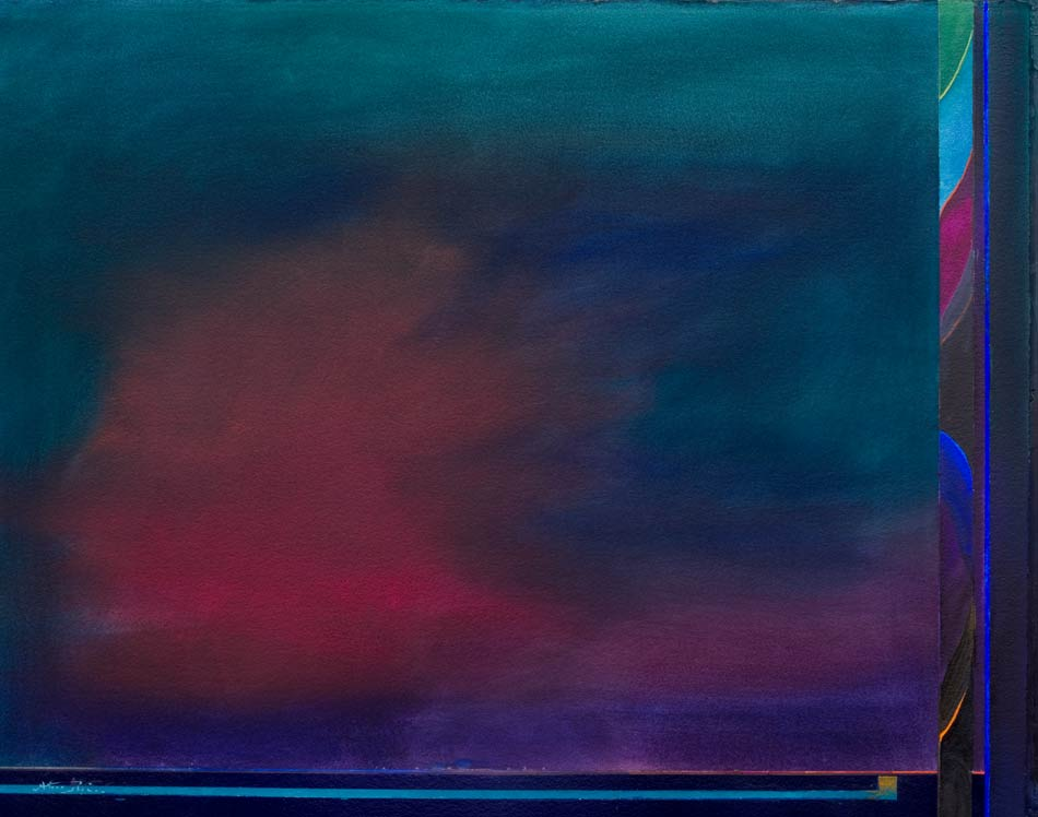 rectangular minimal painting - lights and brights