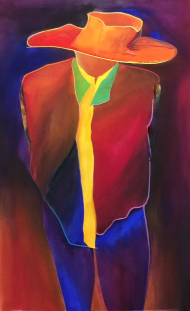 abstract figure painting by alan brain - amigo