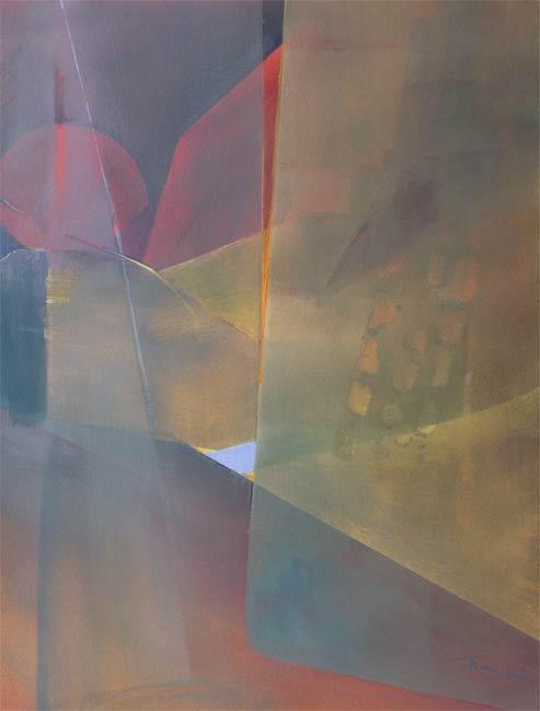 geometric expressionism by uk artist alan brain Seek II